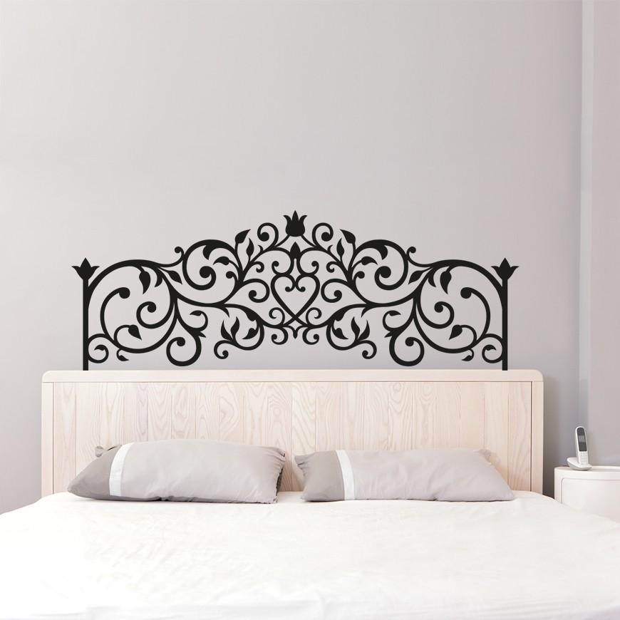 Vinilo cabecero cama vintage - Vinilo cabecero cama ...