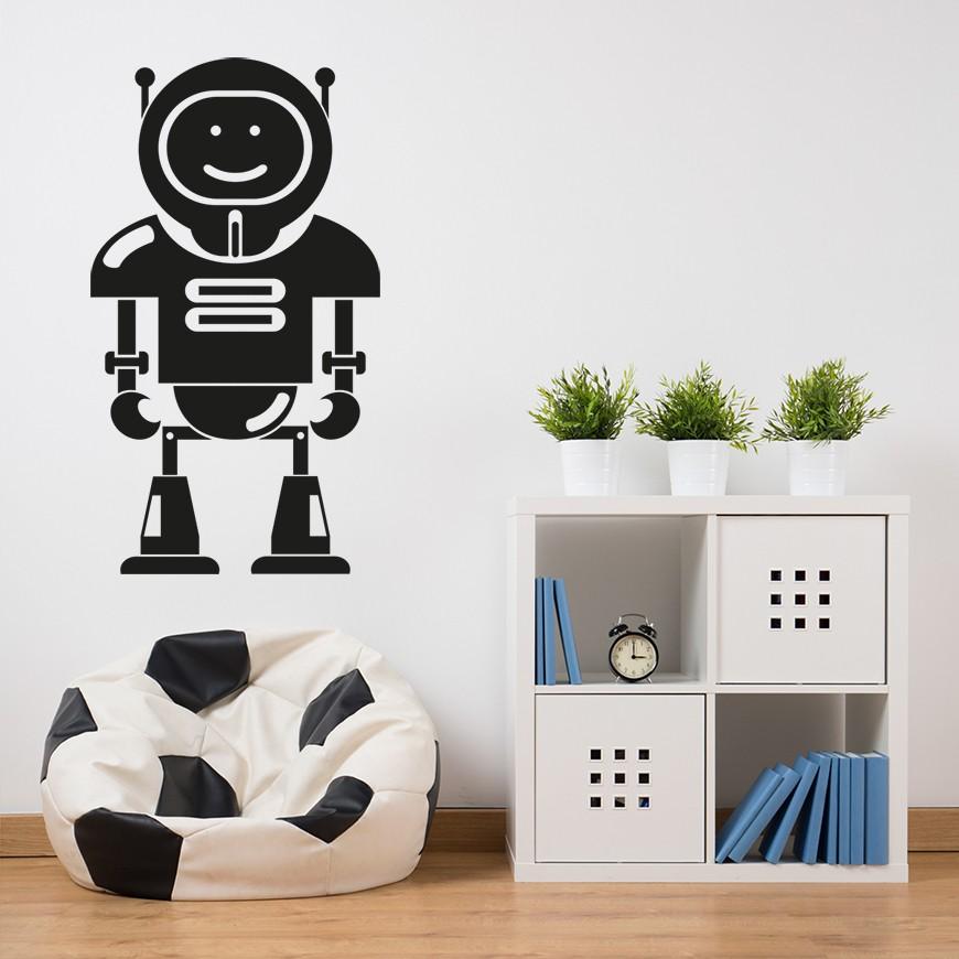 Vinilo robot para pared for Vinilos pared habitacion juvenil