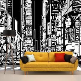Fotomural Times Square Dibujo