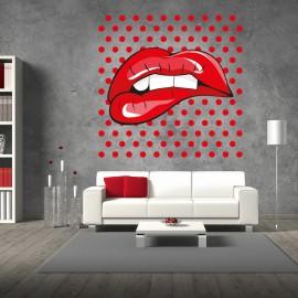 Vinilo Labios Rojos Pop Art