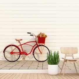 Fotomural Bicicleta Roja
