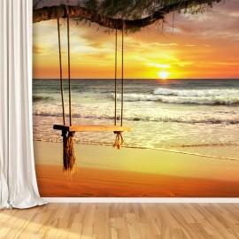 Fotomural de Playa Exótica Atardecer