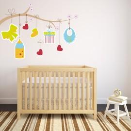 Vinilo Árbol Habitación Bebé