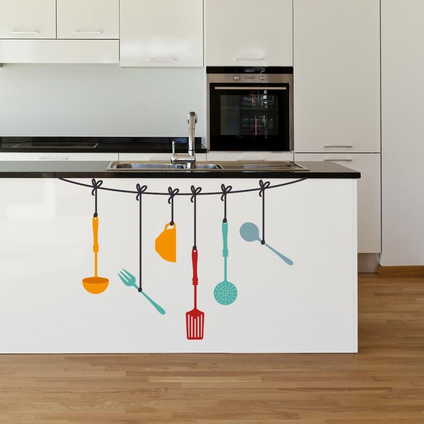 Vinilo para encimera de cocina o para el decorar el frontal - Papel de vinilo para cocinas ...